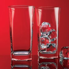 Red Series 16 oz. Square Highball Glass (Set of 4)