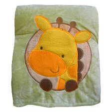 Butterfly Fleece Giraffe Crib Throw Blanket