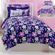 <strong>Jackie Savage McFee</strong> Grape Gatsby Ensemble Comforter Set