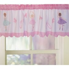 <strong>My World</strong> Ballet Lessons Cotton Curtain Valance