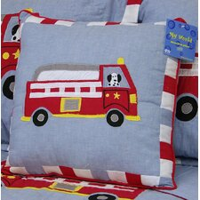 Cotton Fire Truck Pillow