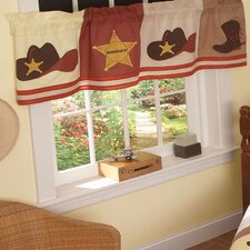 <strong>My World</strong> Cowboy Cotton Rod Pocket Tailored Curtain Valance