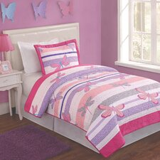 Pretty Dragonfiles 2 Piece Quilt Set