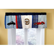 Cars Cotton Rod Pocket Tailored Curtain Valance