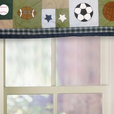 <strong>My World</strong> Sports Collage Cotton Curtain Valance