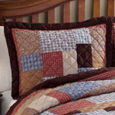 Rustic Plaid Patchwork Cotton Sham