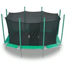 <strong>Kidwise</strong> 9 x 14 ft. Rectagon Trampoline with Enclosure