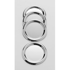<strong>Steel Function</strong> Wine and Dine Stainless Steel Coasters (Set of 4)