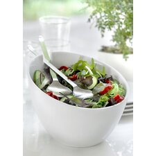 Milano Salad Bowl with Stainless Steel Servers