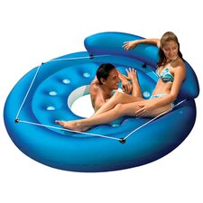 French Pocket Convertible Island Inflatable Pool Float
