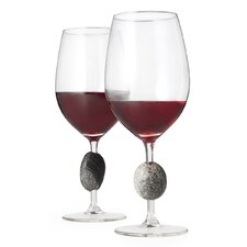 Stone-Stemmed Wine Glass (Set of 2)