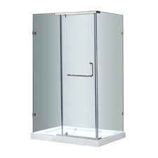 Semi-Frameless Rectangular Shower Enclosure with Low-Profile Base