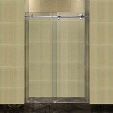"Completely Frameless 48"" W x 75"" H Sliding Shower Door"