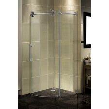 Completely Frameless Round Sliding Shower Door Enclosure