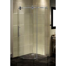 Completely Frameless Round Sliding Shower Door Enclosure