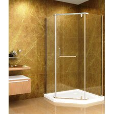 Neo-Angle Door Shower Enclosure with Shower Base