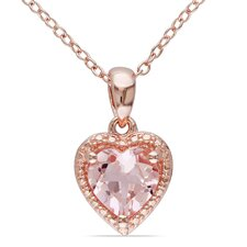 Silver Morganite Cable Chain Pendant