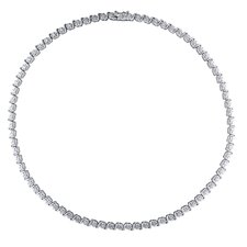Sterling Silver Diamond Tennis Necklace