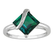 Gold Square Cut Emerald Cocktail Ring