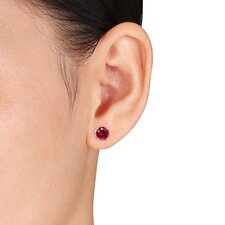<strong>Amour</strong> 10K Round Cut Stud Earrings