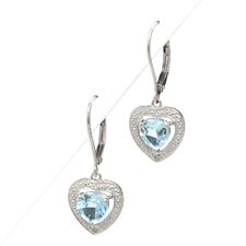 Sky Blue Topaz Lever Back Earrings
