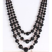 Triple-Strand Necklace in Black