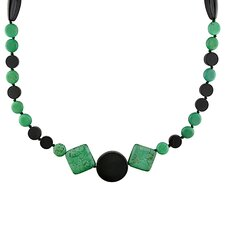 <strong>Amour</strong> Malachite and Onyx Necklace