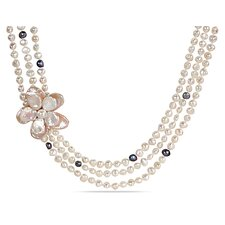 White Irregular Shape Cultured Pearl Necklace