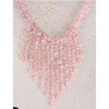 Rose Quartz Chips Necklace with Multi-Strand