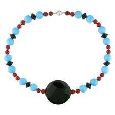 Beads Necklace with Ball Clasp