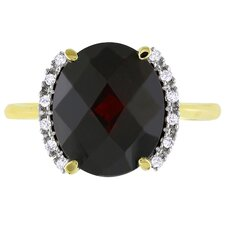Yellow Gold Garnet Fashion Ring