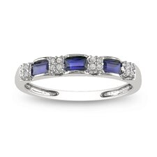 White Gold Diamonds and Sapphire Eternity Ring