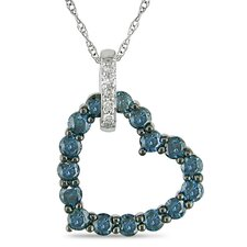 <strong>Amour</strong> Rope Chain Round Cut Diamonds Pendant