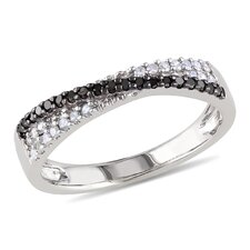 Sterling Silver Round Cut Diamond Single Stone Ring