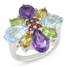 Sterling Silver Gemstone Statement Ring