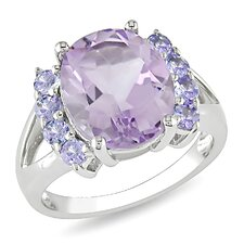 Oval Cut Amethyst Statement Ring