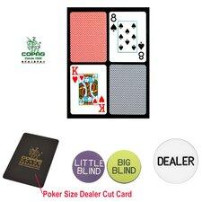 Dealer Kit Poker Size Playing Cards and Dealer Kit