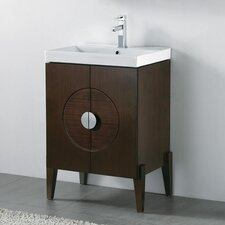"Genova 23.63"" Wall Mount Bathroom Vanity Base"
