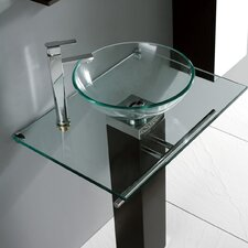 "Verona 16.5"" Glass Vessel Bathroom Sink"