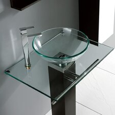 "Rimini 29"" Glass Vanity Top"