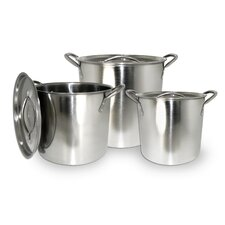 3 Piece Stock Pot Set