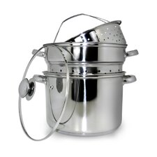 5 Piece Stainless Steel Multi-Cooker Set