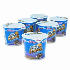 Breakfast Cereal, Raisin Bran Crunch, Sngle-Serve 2.8oz Cup, 6 Cups/bx