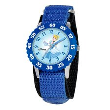 <strong>Disney</strong> Kid's Cinderella Time Teacher Watch in Blue Nylon