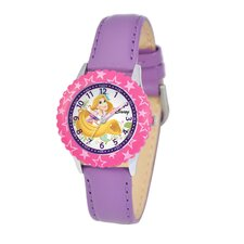 Kid's Rapunzel Time Teacher Watch in Purple