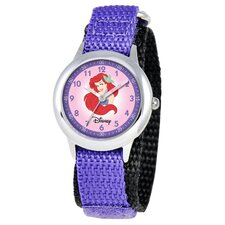 Kid's Ariel Time Teacher Watch in Purple