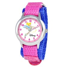 Kid's Tinker Bell Time Teacher Watch in Pink