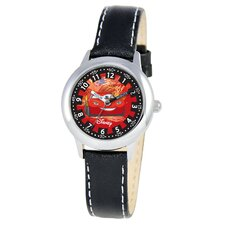 Kid's Cars Time Teacher Watch in Black