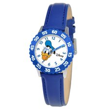 Kid's Donald Duck Time Teacher Watch in Blue