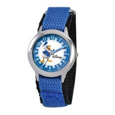 Kid's Donald Duck Time Teacher Velcro Watch in Blue